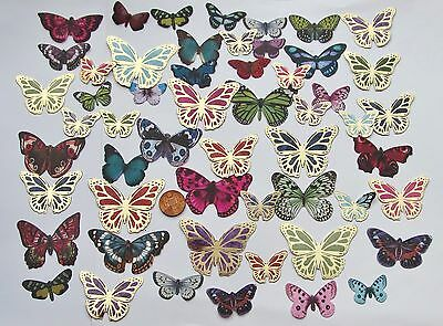 54 Foiled & Realistic Butterfly Butterflies Die Cuts Card Toppers From Hunkydory