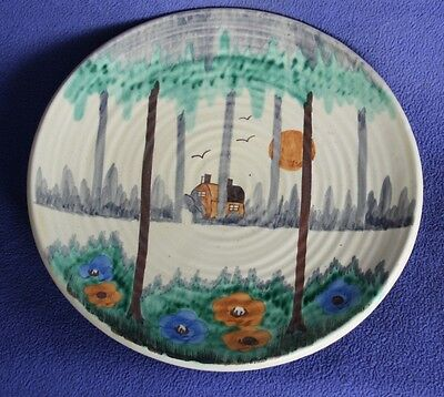Wade Flaxman Ware hand painted wall plaque