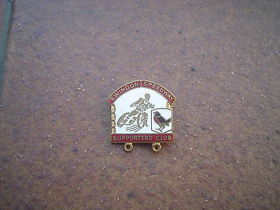 Swindon Supporters Club      Speedway Badge  Good Con  In Gold