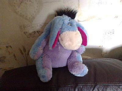Winnie Pooh Eeyore With Velcro Tail Teddy Plush 24Cm High Good Condition