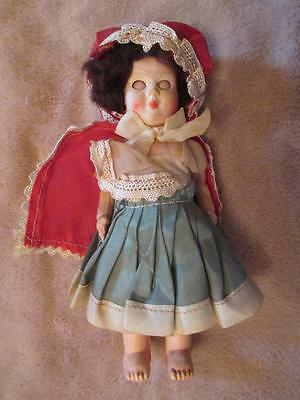"""Vintage Hard Plastic Costume Doll In National Dress 6""""  With Sleeping Eyes  #69"""