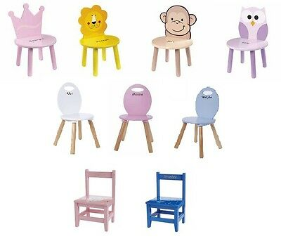 Personalised Wooden Kids Chair, Child's Nursery, Children's Play Room/Bedroom