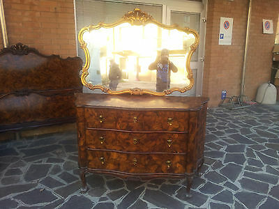 Beautiful Chest Of Drawers Louis Xv Venetian Baroque Walnut Veneered First '900
