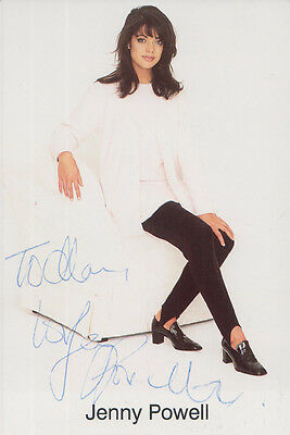 Jenny Powell Wheel Of Fortune TV Quiz Show No Limits Presenter Hand Signed Photo