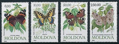 [ST57014] Moldova 1993 Butterflies Good set of stamps very fine MNH