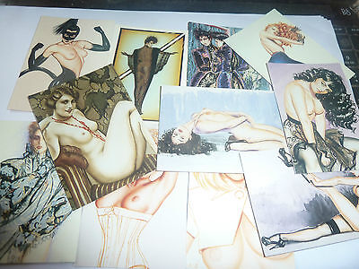 Comic Images - 1994 Olivia Tradecards -Ladies-Leather & Lace-Lot 4