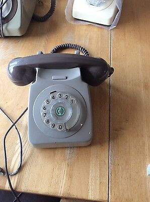 Vintage Retro Gpo 746 Rotary Dial Two Tone Telephone - Not Converted
