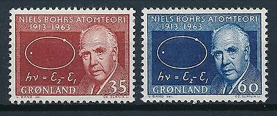 [ST7233] Greenland 1963 Sciences Personality Good set of stamps very fine MNH