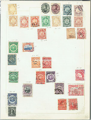 Old Bolivia Stamp Collection. Nice lot. Unsorted.