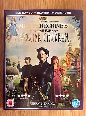 Blu-ray DVD Slipcase Only NO DISCS - Miss Peregrine's Home for Peculiar Children