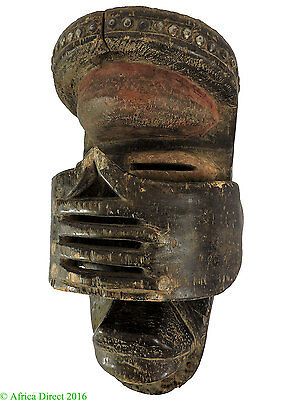 Dan Protection Mask Liberia Hands Over Face Studded Brow African Art