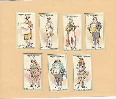 Player's Part Set 21/25, Characters From Thackeray. Cat £33.60  Issued 1913