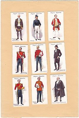 Player's Full Set 25, Ceremonial And Court Dress.excellent. Cat £45.00  Isd 1911