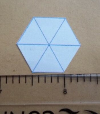 100 hexagon patchwork paper templates size 0.5 inch