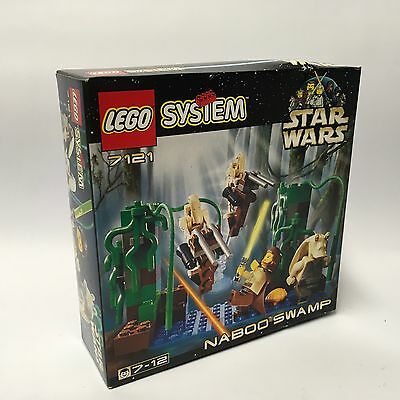 1999 LEGO 7121 Star Wars - Naboo Swamp Set In Factory Sealed Box