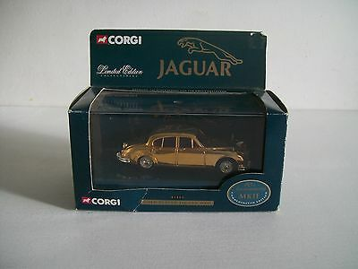 CORGI GOLD PLATED JAGUAR MK11 40th ANNIVERSARY  LIMITED EDITION - VERY RARE