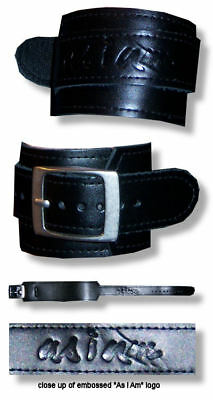 Alicia Keys - Black Leather Doublewrap Wrist Band - New Official
