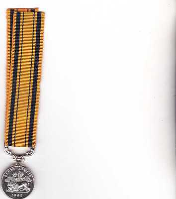 British Miniature South Africa Medal
