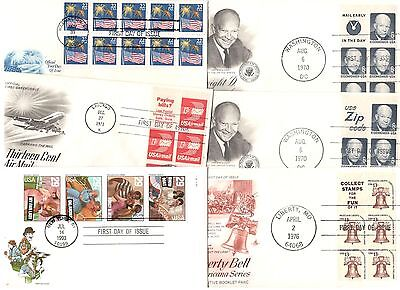 twelve different booklet cacheted fdcs