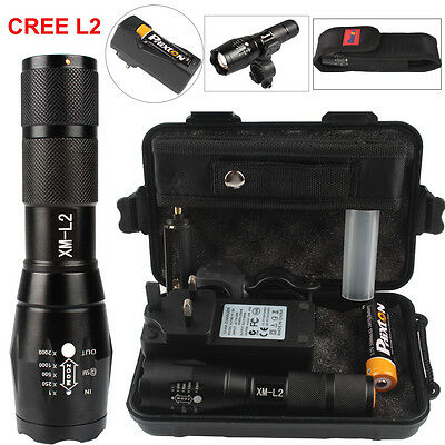 X800 Shadowhawk 6000lm Tactical Torch CREE T6 To L2 LED Military Flashlight Set