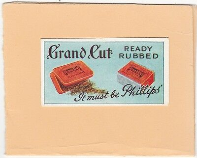Godfrey Phillips Very Scarce Advertisement Card.-Grand Cut. Cat £15.00. Isd 1934