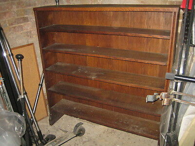 Large Antique Mahogany Open Bookcase - In Dry storage for years - See Listing