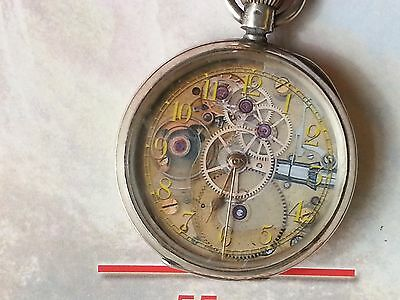 Waltham 16 Size Silver OF Watch legendary Stone Mountain Repro dial