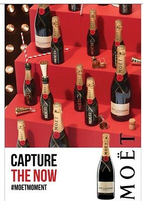 "Moet Champagne ""Capture The Now"" Poster 24 By 36"