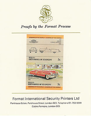 Bequia (2136) - 1984 Cars #1 Cadillac imperf on Format Int PROOF  CARD