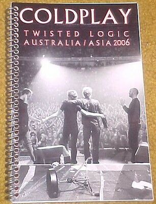 Coldplay 2006 Twisted Logic Tour Itinerary Australia/Asia (34pgs)