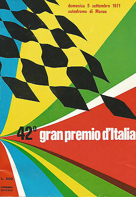 Italian Grand Prix Programme 5th September 1971 Monza Formula One 1