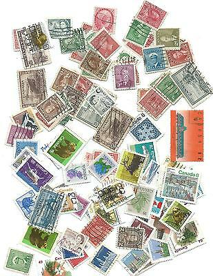 Canada Used Stamp Collection X Approx 100