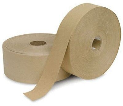 2,400 Feet - 4 Roll Pack -  Water Activated BROWN KRAFT PAPER TAPE