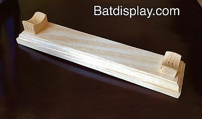 Desktop Baseball Bat Rack Stand Display Holder in Natural Finish