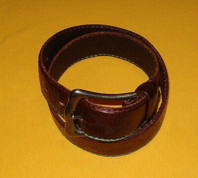 Men's Banana Republic Brown Made In Italy Genuine Leather Belt Size 27-28""
