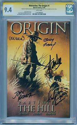 ORIGIN #1 CGC SIGNATURE SERIES SIGNED x5 STAN LEE ROMITA WEIN TRIMPE WOLVERINE