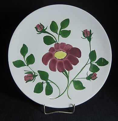 "Southern Potteries Blue Ridge:  Pretty ""Red Nocturne Variant"" Dinner Plate 4535"