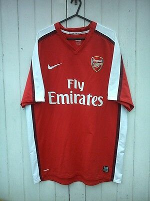 Official Nike 2008/10 Arsenal Fc Home Shirt L/mans