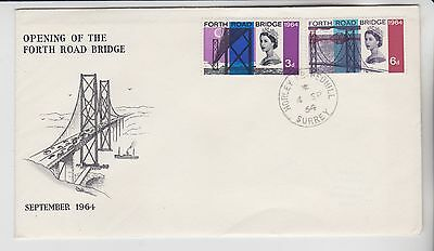 Gb Stamps First Day Cover 1964 Forth Road Redhill Unaddressed Rares Collection