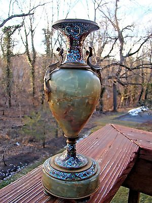 FRENCH ENAMELED BRONZE AND CLOISONNE SEVRES URN/VASE  - issue