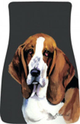 Car Floor Mats Pair - Basset Hound (BVV) 21021
