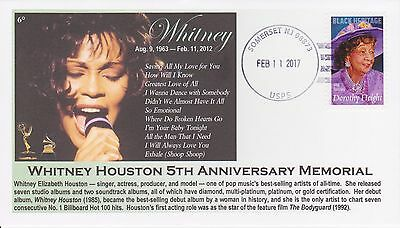 6° Cachets Grammy Winner Whitney Houston 5th Anniversary Memorial Cover