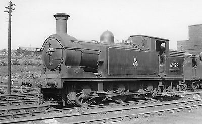 Photo Ex LNER Class N15  No 69198 seen at Parhead shed yard on 30/7/54 PHG