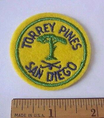 Vintage Torrey Pines Golf Course Club Gc San Diego Ca Embroidered Felt Patch
