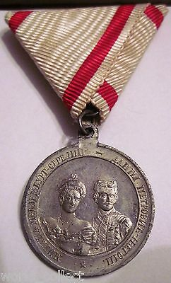 Montenegro RARE Medal for wedding of Prince Danilo in 1899y.,order,TOP condition