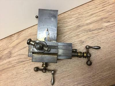 LORCH SCHMIDT & Co WATCHMAKERS LATHE COMPOUND CROSS SLIDE & TOOL POST