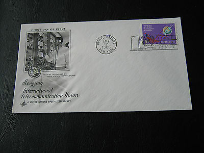U.S. - United Nations FDC - 1965 - Honouring the Int. Telecoms Union 11c (2575)
