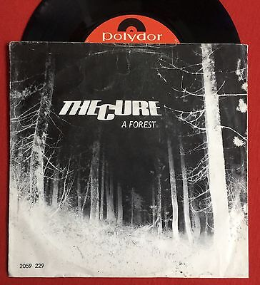 "THE CURE - A Forest - Rare Polydor 7"" +Picture Sleeve / Dutch Pressing (Vinyl)"
