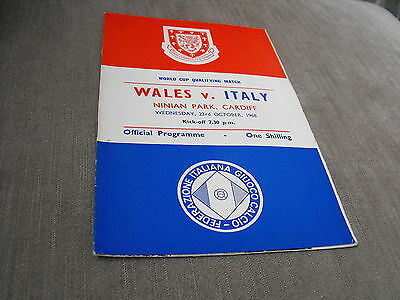 WALES v ITALY 23/10/68, WORLD CUP QUALIFIER