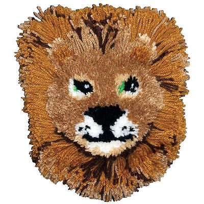 Huggables Lion Pillow Latch Hook Kit-12 Inch X 12 Inch 716448362074